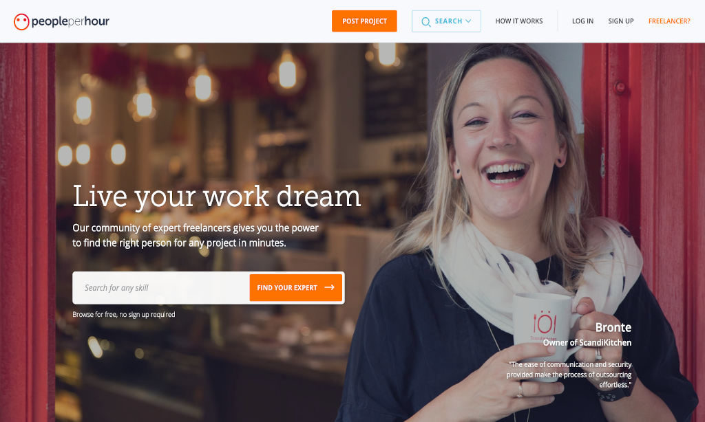 Hire a Designer from People Per Hour for your e-commerce store