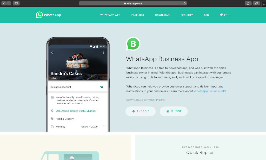 WhatsApp has over 3 billion registered businesses as stated by TechCrunch.