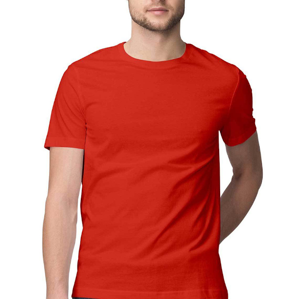 Printrove's Red T-shirt Half Sleeve Mockup