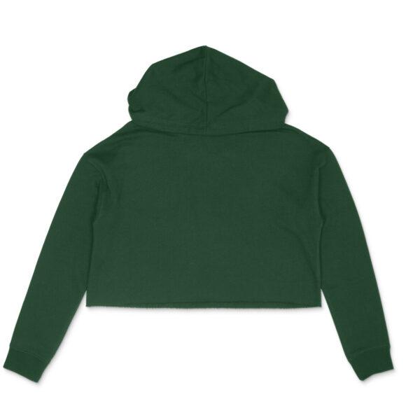 Olive Green Women's Crop Hoodie